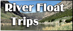 Big Horn River Inner Tub Float Trips from Eagle RV Park and Campground in Thermopolis Wyoming