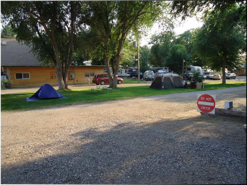Tent Camping Sites at Eagle RV Park and Campground in Thermopolis Wyoming